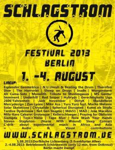 Gerechtigkeits Liga live, 3rd of August 2013 @ Schlagstrom Festival