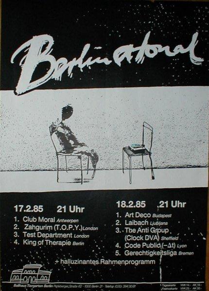 Gerechtigkeits Liga Berlin Atonal Poster